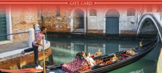 Gift card Gondola Ride Venice