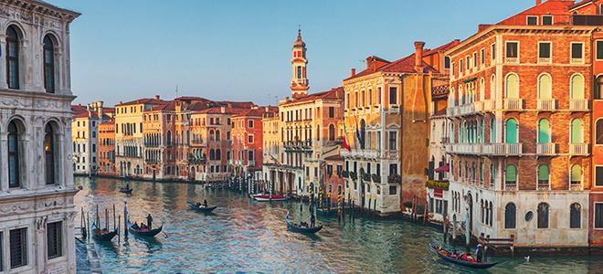 Gondola Ride in Venice Canal Grande